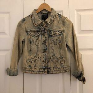 Acid wash jean jacket